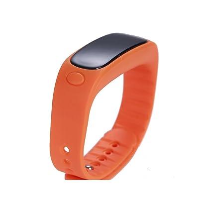 QINPédomètre imperméable à l'arc intelligent appel SMS qq lettre micro pour rappeler le bracelet sport noir , orange