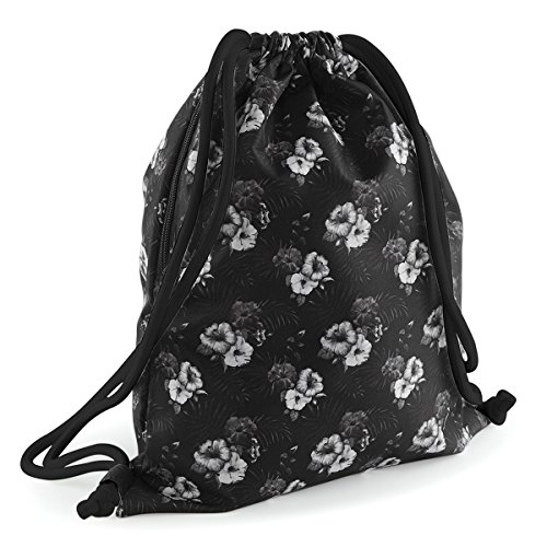 Price comparison product image BagBase Shoulder Bag for Gym Graphic drawstring backpack 40x48cm 15L Mono Hawaiian