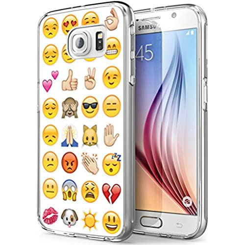 S7 Active Emoji,Gifun Soft Clear TPU [Anti-Slide] and [Drop Protection] Protective Case Cover for Samsung Galaxy S7 Active W Cute Emoji Design Sales