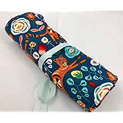 Jewelry Roll Organizer Storage Travel Roll Up - Tigiris Indigo