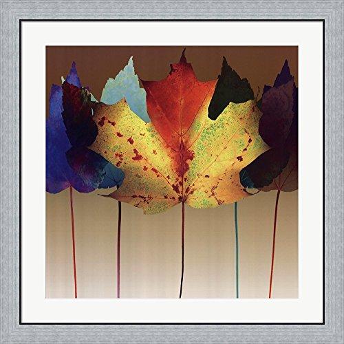Leaf Dance by Robert Mertens Framed Art Print Wall Picture, Flat Silver Frame, 32 x 32 inches Robert Mertens Leaf