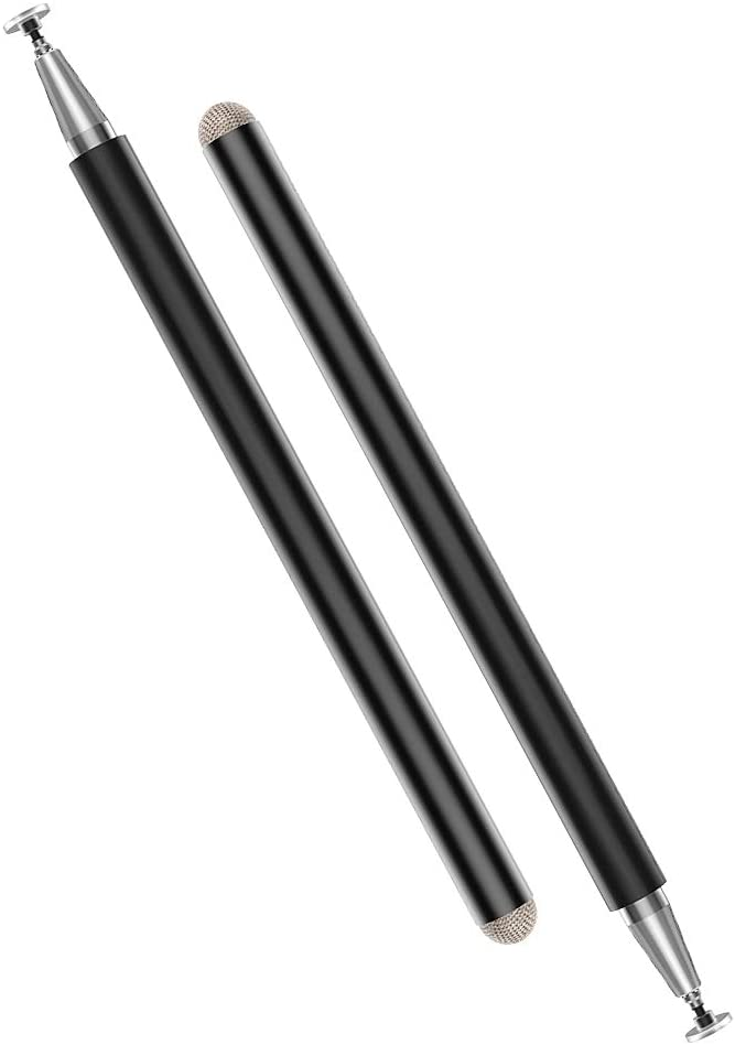MoKo Stylus Pens 2 PCS for iPad Pencil, High Sensitivity & Fine Point Universal Writing Drawing Capacitive Pen for iPhone/iPad Pro/Mini/Air/Galaxy/Kindle/Android/Surface/Other Touch Screens, Black