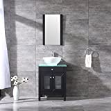 Sliverylake 24 Inches Modern Bathroom Vanity and Sink Combo MDF Wood Cabinet