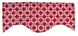 RLF Home Interlock M Shaped Valance, Red