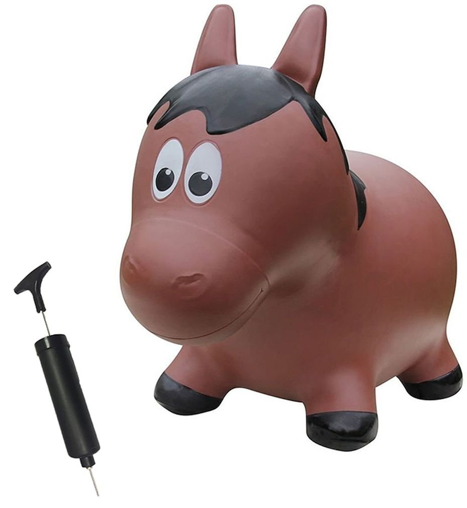 Farm Hoppers Award Winning Inflatable Bouncing Brown Horse Plus Pump
