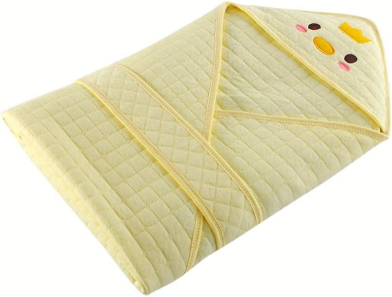 YeahiBaby toalla bebe de encapuchada manta de algod/ón toalla de abrigo absorbente de agua suave dise/ño de oso Amarillo