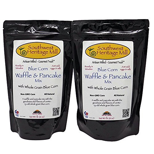 (Southwest Heritage Mill Blue Corn Pancake and Waffle Mix Pack of 2 16 Ounce Bags )