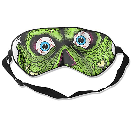Teesofun Comfortable Sleep Eyes Masks Zombie Green Face Illu