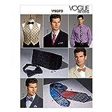 Vogue Patterns V9073 Men's Vest, Cummerbund, Pocket Square and Ties Sewing Template, One Size