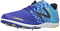 New Balance Men's 5000v3 Cross-Country Spike, Silver/Blue, 11 D US