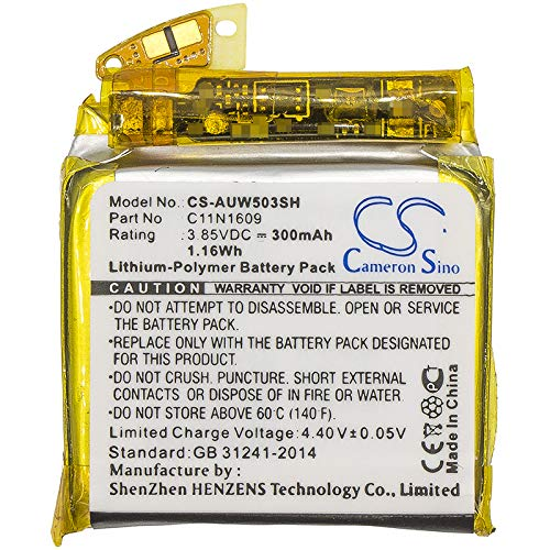 Cameron Sino 300mAh Replacement Battery for Asus WI503Q, ZenWatch 3 from Cameron Sino