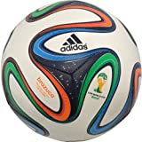 adidas Performance Brazuca Top Glider Soccer Ball, White/Night Blue/Multicolor, 3