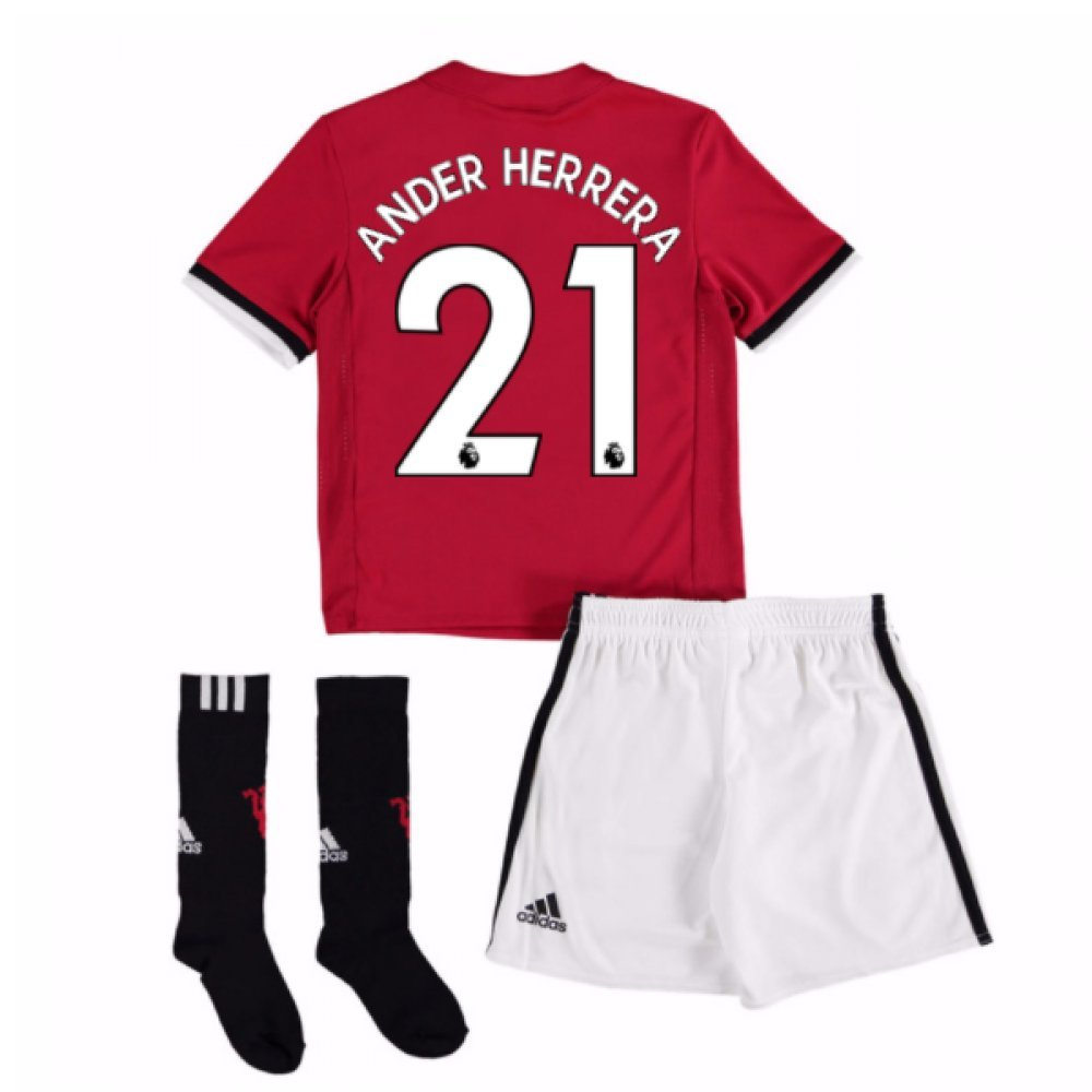 UKSoccershop 2017-18 Man United Home Mini Kit (Ander Herrera 21)