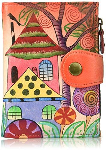 Anna by Anuschka Hand Painted Leather Women's Ladies Wallet, Village Off Dream