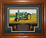 John Deere Model A Late-Styled 1947-1952 DL Gift for Dad Tractor Pictures Wall Decor Framed Tractor Art