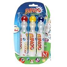 Pack Of 3 Bingo Dabbers Felt Tip Assorted Colours