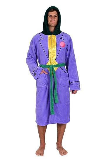 DC Comics Joker Jacket Hooded Fleece Robe (One Size)