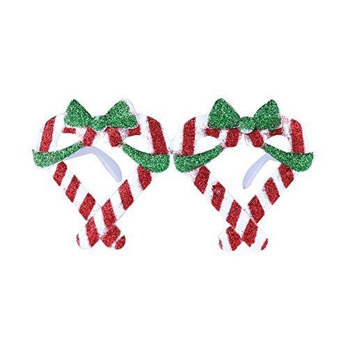 Tinksky Christmas Glitter Sunglasses Gift Box Frame Novelty Costume Glasses for Christmas Party Decoration Christmas Birthday Gift for - Christmas Sunglasses