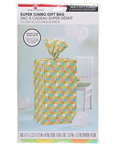 (American Greetings Plastic Gift Bag, Multi-Colored)