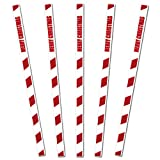 "Royer 6"" Plastic Candy Cane, Merry Christmas Swizzle Sticks, Set of 24 - Made in USA"