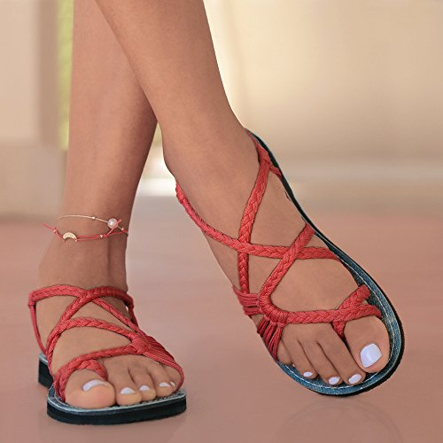 70bc6425eead40 Everelax Women s Flat Sandals Red 8B(M) US - Buy Online in UAE ...