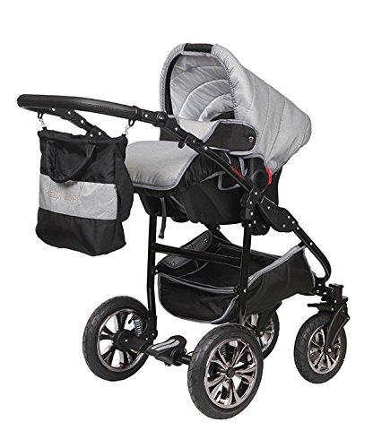 3 en 1 de aluminio lujo cochecito Zippy LX 16 Gray de Silver: Amazon.es: Bebé