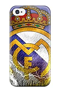 Holly M Denton Davis's Shop 3905019K37876335 Perfect Tpu Case For Iphone 4/4s/ Anti-scratch Protector Case (real Madrid Fc Logo)