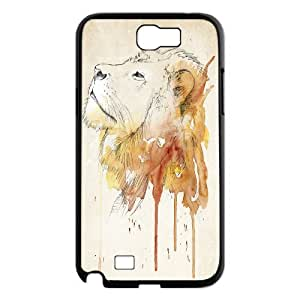 High Quality {YUXUAN-LARA CASE}Powerful Lion For Samsung Galaxy Note 2 STYLE-15