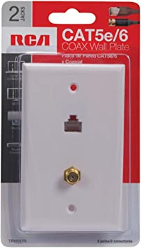 Rca Cat 5 6 F Connector Wall Plate Tph557r Amazon Ca Electronics
