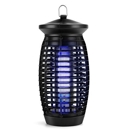 Bug Zapper,Electric Fly Trap Indoor Mosquito Zapper,500sq.ft.Coverage Fly Zapper Mosquito Trap Insect Killer with 120V UV Light Bulb,for Home Kitchen Office,Restaurant(Black)