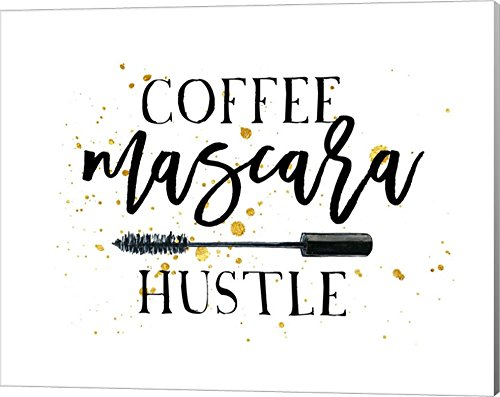 Coffee Mascara Hustle by Amy Cummings Canvas Art Wall Picture, Gallery Wrap, 20 x 16 - Pictures Cumming Women Of