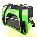 Cheap IrisPets Pet Airline Travel Approved Airport Pet Carrier, Soft Sided Portable Folding Under Seat Air Travel Pet Carriers Bag for Dogs/Cats Small Animals – 2018 Newly Designed Green