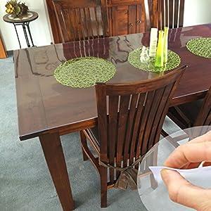 tischdecke tischfolie schutzfolie tischschutz folie 2mm transparent 100cm breit l nge w hlbar. Black Bedroom Furniture Sets. Home Design Ideas