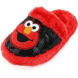 Elmo Womens Red Scuff Slippers