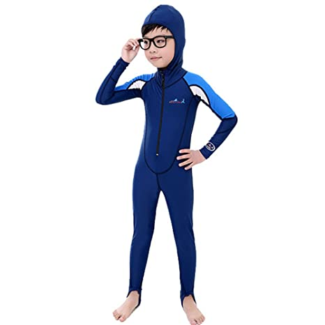 882910800f A Point UV Protection Swimsuit With Hood Long Sleeves Rash Guard For Kids  Perfect Fit (