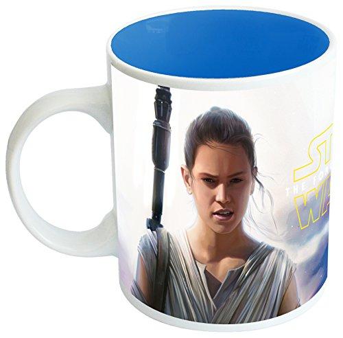 Joy Toy 99634 Star Wars Episode VII - Keramiktasse mit Rey und BB8 Motiven im Geschenkpackung, 320 ml, 9 x 12 x 10 cm