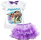 AOVCLKID Moana Costume Little Girls Dress up Toddler Baby Halloween Cosplay Outfit Kids Skirt Sets
