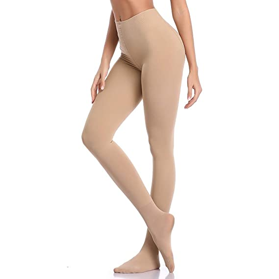 b84e2b08680 Joyshaper Tights For Women Control-Top Slimming Ultra Sheer Soft Run  Resistant Opaque Anti Hook Seamless Stretchy Skinny Stockings Brief  Pantyhose  ...