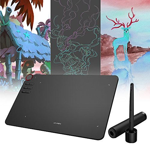 Goolsky XP-Pen Deco 03 Wireless 2.4G Digital Graphics Drawing Tablet 10 * 6 Inches with 8192 Level Sensitivity Battery-free Passive Stylus Pen 6 Shortcut Keys