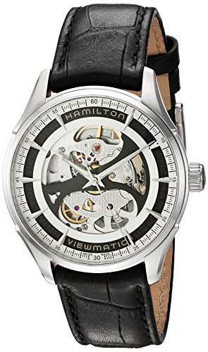 Hamilton Men's Automatic Jazzmaster Skeleton Dial Stainless Steel Watch