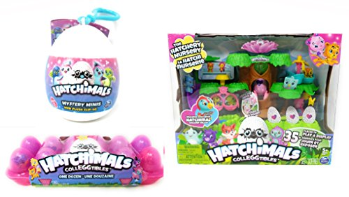 Hatchimals Playset  Non Exclusive 12 Colleggtibles  Mystery Mini Clip On Bundle