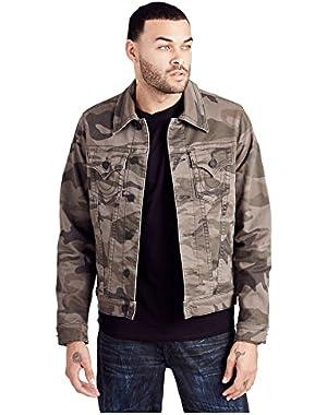 Men's Camo Trucker Jacket in Printed Camo