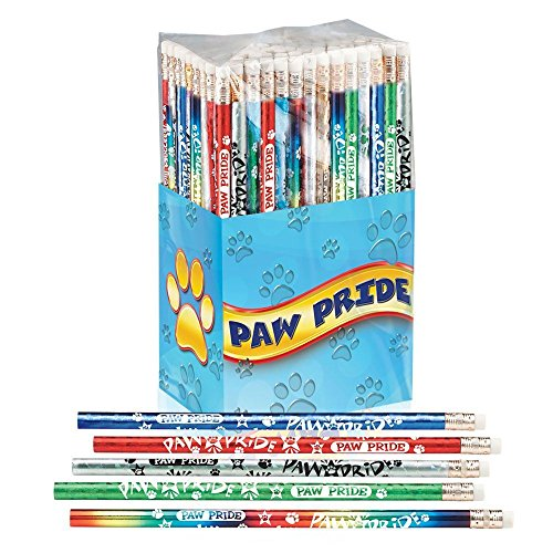 Paw Pride Award Pencils 150-Piece Assortment (Attendance Pencils)