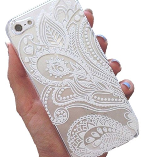 Sannysis Für iPhone 6 4.7 Inch Fall;Henna Weiß Blumenblumen-Kunststoffgehäuse