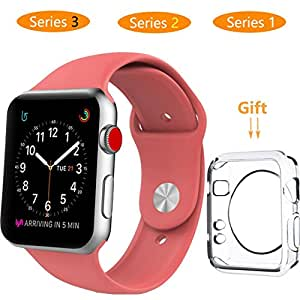 Smart Watch Band 38mm, Jihibo Band for Apple Watch 38mm Series 3 / Series2 / Series1, Sport, Edition.(38mm - watermelon red)