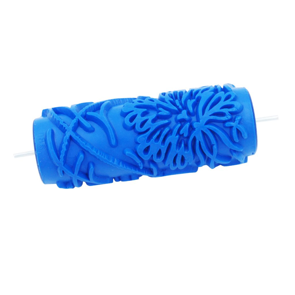 Homyl 15cm Empaistic Floral Pattern Painting Roller Wall Brush for Home Garden Decoration, 13 Designs - 11#, 5 inches