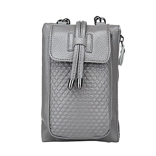 Badiya Genuine Leather Cell Phone Pouch Mini Crossbody Single Shoulder Bag