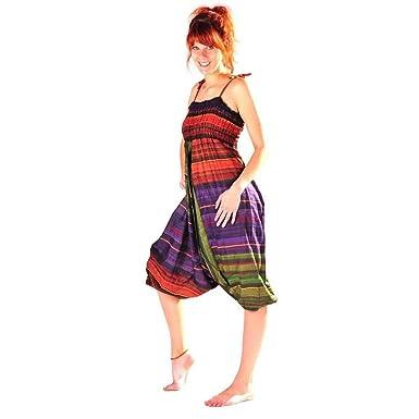 Simandra Haremshose Pumphose Jumpsuit Aladinhose Pluderhose Yoga Goa  Sarouel Baggy Aladin Freizeithose Sheila (S  eeb6978906