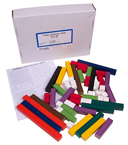 ETA hand2mind Wooden Jumbo Cuisenaire Rods Introduction Set