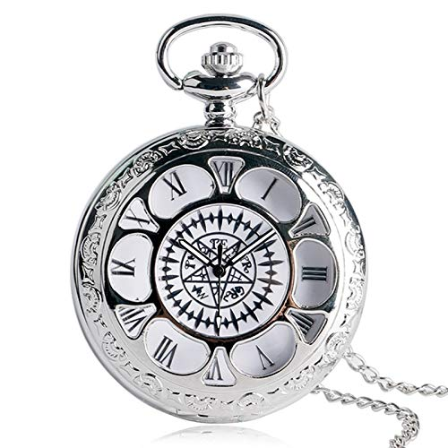 Popular Anime Character Cosplay Luxury Silver Necklace Chain Pocket Watch | Unisex Valentine Gifts | Men's Pocket Watches -